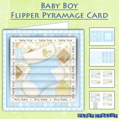 Baby Boy - Flipper Pyramage Card Kit