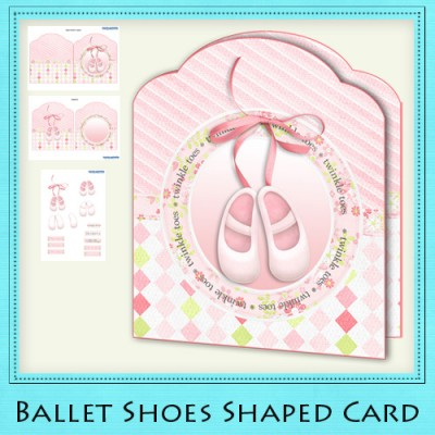 Ballet Shoes - Shaped Card Kit