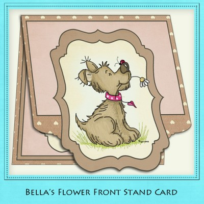 Bella's Flower - Front Stand Card