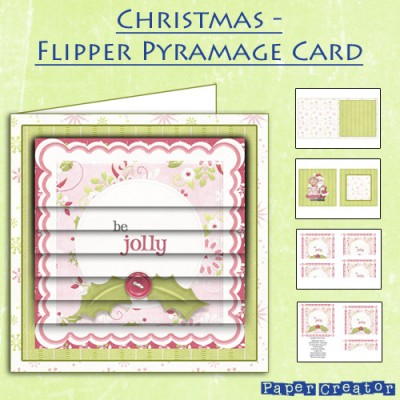 Christmas - Flipper Pyramage Card Kit