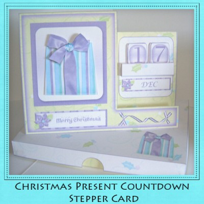 Christmas Present - Countdown Stepper Card Kit