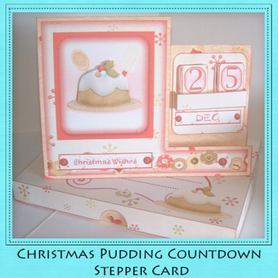 Christmas Pudding - Countdown Stepper Card Kit