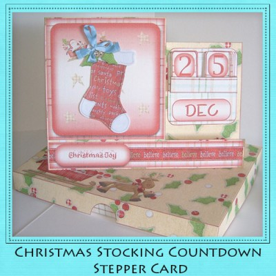 Christmas Stocking - Countdown Stepper Card Kit
