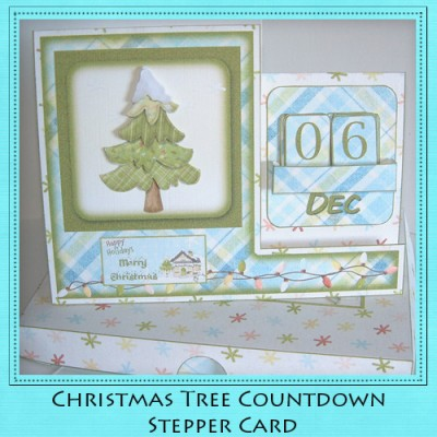 Christmas Tree - Countdown Stepper Card Kit