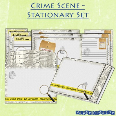 Crime Scene - Stationary Set