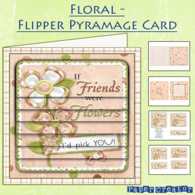 Floral - Flipper Pyramage Card Kit