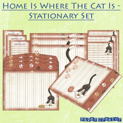 Home Is Where The Cat Is - Stationary Set