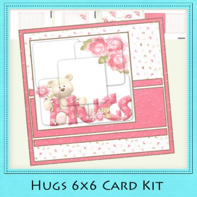 Hugs - 6x6 Card Kit
