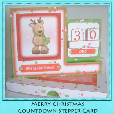 Merry Christmas - Countdown Stepper Card Kit