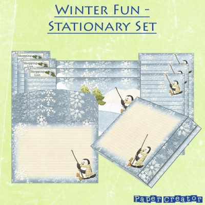Winter Fun - Stationary Set