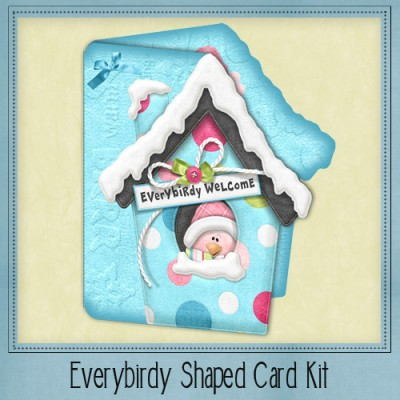 Everybirdy Shaped Card Kit