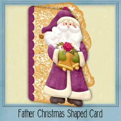 Father Christmas Shaped Card Kit