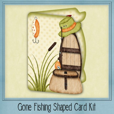 Gone Fishing Shaped Card Kit
