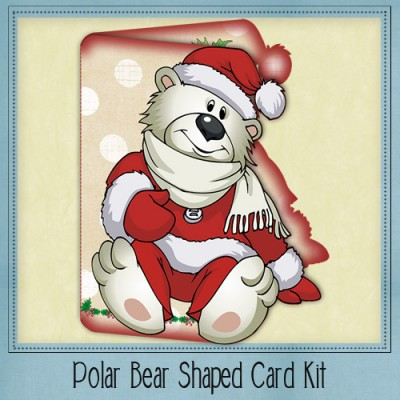 Polar Bear Shaped Card Kit