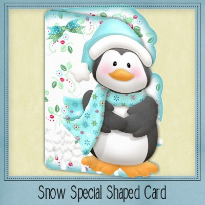 Snow Special Shaped Card Kit