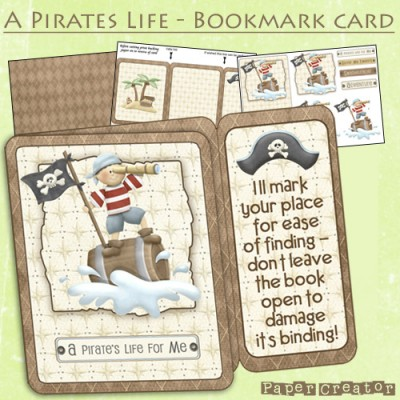 A Pirates Life - Bookmark Card Kit