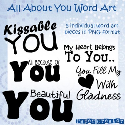 All About You - Word Art Set