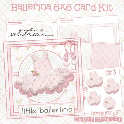 Ballerina - 6x6 Card Kit