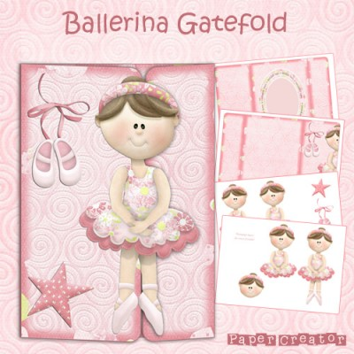 Ballerina - Gatefold Card Kit