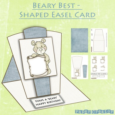 Beary Best - Shaped Easel Card Kit