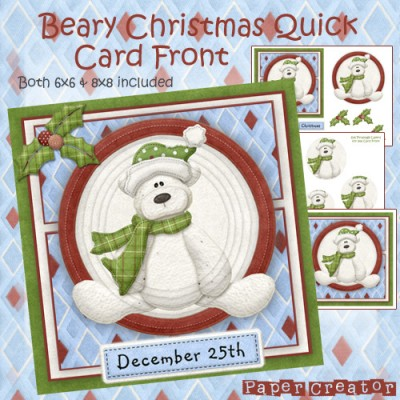 Beary Christmas - Quick Card Front