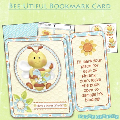 Bee-Utiful - Bookmark Card Kit
