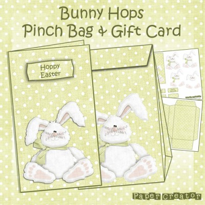 Bunny Hops - Pinch Bag & Gift Card Set