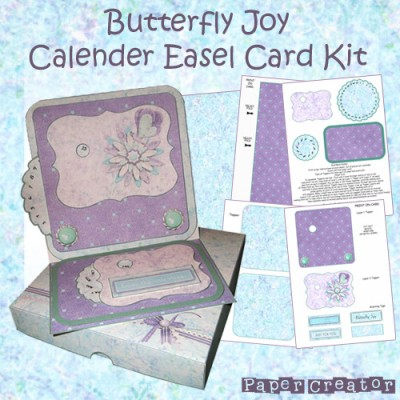 Butterfly Joy - Calender Easel Card Kit