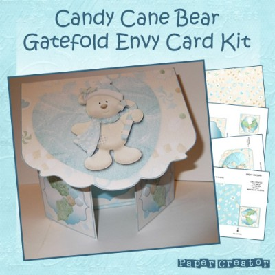 Candy Cane Bear - Gatefold Card Kit