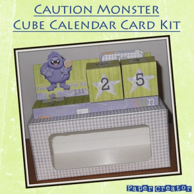 Caution Monster - Cube Calendar Kit
