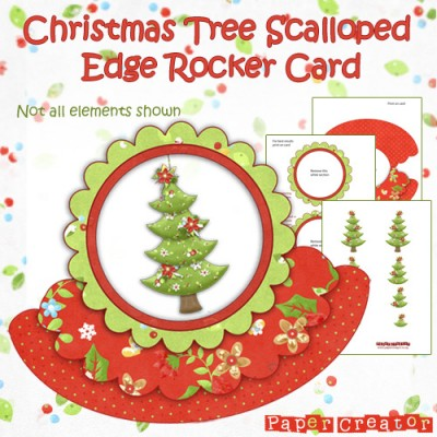 Christmas Tree - Scalloped Edge Rocker Card Kit