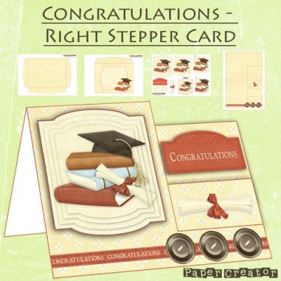 Congratulations - Right Stepper Card Kit