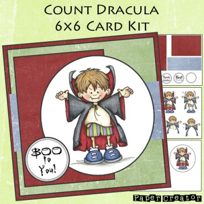 Count Dracula - 6x6 Card Kit