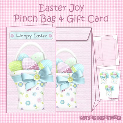 Easter Joy - Pinch Bag & Gift Card Set