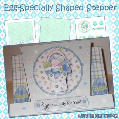 Egg-Specially - Shaped Stepper Card Kit
