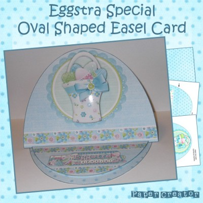 Eggstra Special - Large Oval Easel Card Kit