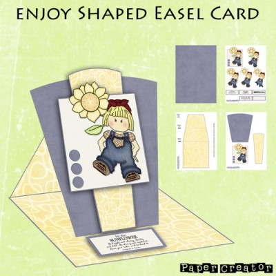 Enjoy - Shaped Easel Card Kit