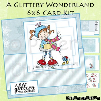 A Glittery Wonderland - 6x6 Card Kit