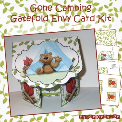 Gone Camping - Gatefold Card Kit
