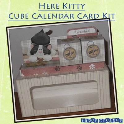 Here Kitty - Cube Calendar Kit