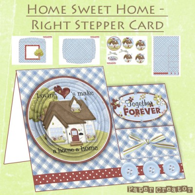 Home Sweet Home - Right Stepper Card Kit