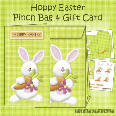 Hoppy Easter - Pinch Bag & Gift Card Set