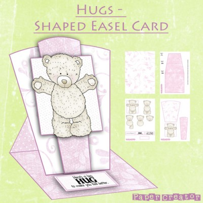 Hugs - Shaped Easel Card Kit