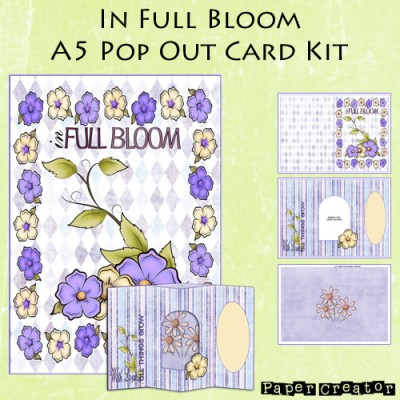 In Full Bloom - A5 Pop Out Card Kit