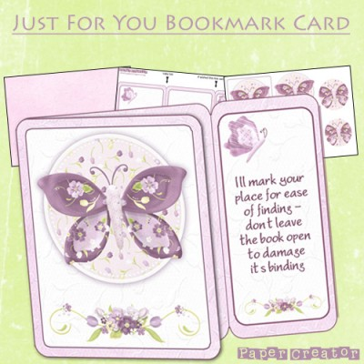 Just For You - Bookmark Card Kit