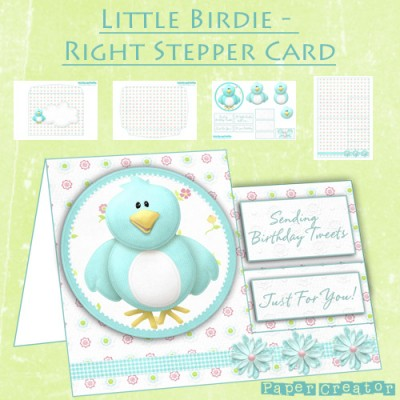 Little Birdie - Right Stepper Card Kit