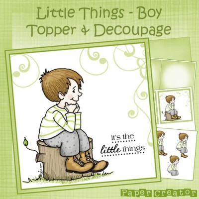 Little Things (Boy) - Topper & Decoupage Set