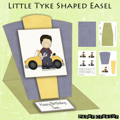Little Tyke - Shaped Easel Card Kit