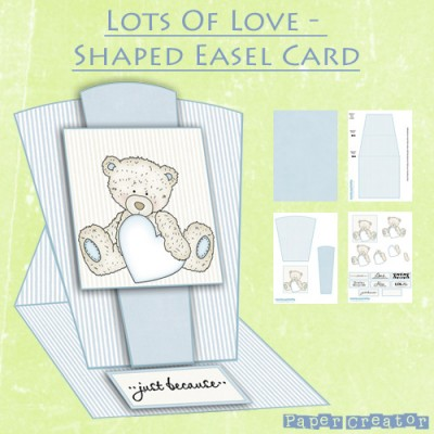 Lots Of Love - Shaped Easel Card Kit