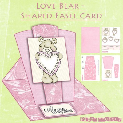 Love Bear - Shaped Easel Card Kit
